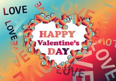 Red Orange and Blue Heart Wallpaper Background Heart Wallpaper, Wallpaper Backgrounds, Valentines Day Background, Heart Background, Vector Free Download, Neon Signs, Orange, Red, Blue