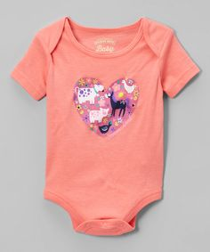 Another great find on #zulily! Sherbet Farm Heart Bodysuit - Infant #zulilyfinds