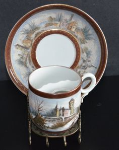 Excited to share the latest addition to my #etsy shop: Royal Bayreuth Sontag & Son Bavaria Hand Painted Tapestry Mustache Cup Saucer Set Rare Bavarian Porcelain Scenic Winter Castle Scene http://etsy.me/2DVRQ5z #housewares #bathroom #antiqueporcelain #royalbayreuth #ba