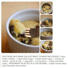This is really good! single serve cookie