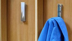 Use hideaway hooks for hanging up outerwear.