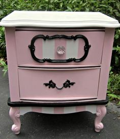 Macianns nightstand would look cute painted like this!