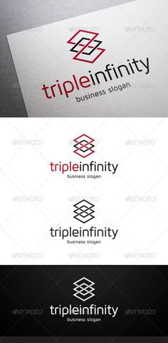 Triple Infinity Logo — Vector EPS #studio #endless • Available here → https://graphicriver.net/item/triple-infinity-logo/5075420?ref=pxcr