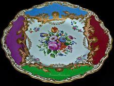 Antique Russian Imperial Porcelain Floral Plates c. 1840