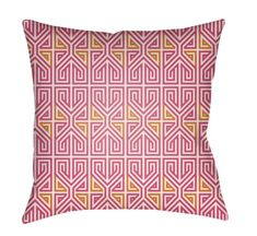 Buy the Surya Pink Direct. Shop for the Surya Pink Lolita Wide Square Geometric Pattern Polyester Outdoor Accent Pillow Cover and save. Orange Throw Pillows, Throw Cushions, Linen Pillows, Outdoor Throw Pillows, Geometric Throws, Geometric Pillow, Geometric Patterns, Abstract Pattern, Sofa Cushion Covers