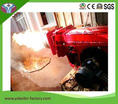 Modulating operation powerful 1million kcal/h natural gas burner with gas butterfly valve