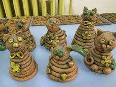 Fun Crafts For Kids, Projects For Kids, Art For Kids, Paper Mache Clay, Clay Art, Ceramics Projects, Clay Projects, Kids Clay, Pottery Workshop