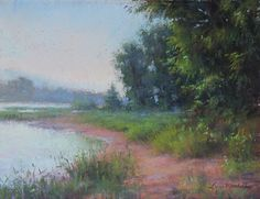 Along The Delaware River by Lisa Mitchell Pastel ~ 9 x 12