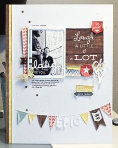 #papercraft #scrapbook #layout. *laugh* by JanineLanger at @Studio_Calico