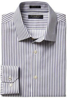 Grant Slim-Fit Non-Iron Stretch Stripe Shirt
