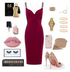 """"""""""" by samantadalipi on Polyvore featuring Christian Louboutin, Yves Saint Laurent, Rolex, Cartier, Lime Crime, Huda Beauty, Forever 21, Chanel and Parfums de Marly"""