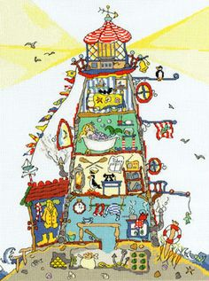 Cut Thru Lighthouse Cross Stitch Kit by Bothy Threads