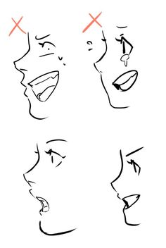 Just a reminder when drawing mouth on face side view. It pains me to see someone doing this like please stop