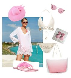 """Just Beachy in Pink"" by tracy-kerr on Polyvore featuring Kenneth Cole Reaction, C Label, Oliver Peoples and South Beach"