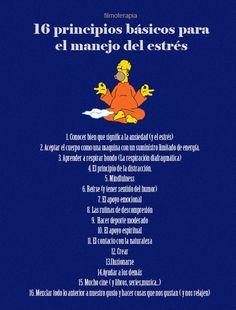 16 principios básicos para el manejo del estrés