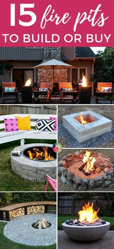 DIY fire pit ideas can transform a basic backyard. There are also amazing options if you don't have the time and energy to make your own. These are the best options out there for both! DIY fire pit ideas c Diy Home Decor On A Budget, Diy Home Decor Projects, Outdoor Projects, Decor Ideas, Outdoor Crafts, Garden Projects, Decorating Ideas, Foyers, Outdoor Fire