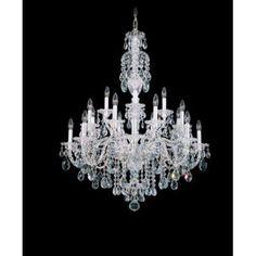 Schonbek Sterling 20-Light Crystal Chandelier Finish: Aurelia, Crystal Color: Heritage Handcut Crystal Clear