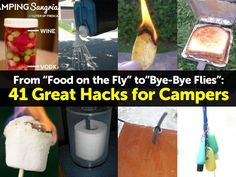 "HANDY DIY: From ""Food on the Fly"" to""Bye-Bye Flies"": 41Great Hacks for Campers"