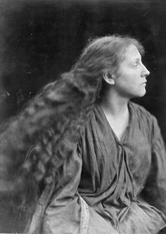 funeral-wreaths:   Julia Margaret Cameron, Miss Philpott or Mary (May) Hillier, 1873