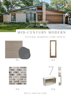 Mid-Century Modern Style Curb Appeal from West-South. How to know if you have a Mid-Century Modern or a Ranch.