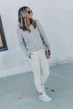 Topshop Slouchy Sweater (under $70) // Joggers (under $70) // Adidas NMD XR1 Sneakers // Chloe Faye Bag// Eyewear Happy…