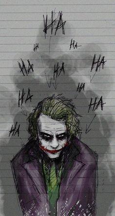 Art inspired by The Joker played by Heath Ledger in A Dark Knight Batman Comics, Le Joker Batman, Der Joker, Dc Comics, Joker Art, Batman Art, Joker And Harley Quinn, Batman Stuff, Gotham Batman