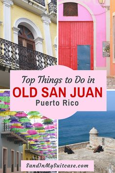 There are many great things to do in Old San Juan Puerto Rico (a UNESCO World Heritage City). Chief among them is simply to explore its colorful streets. See our photo guide to visiting Old San Juan! babies flight hotel restaurant destinations ideas tips Puerto Rico Trip, San Juan Puerto Rico, Southern Caribbean, Caribbean Cruise, Old San Juan, Stuff To Do, Things To Do, Cruise Excursions, Vacation Pictures