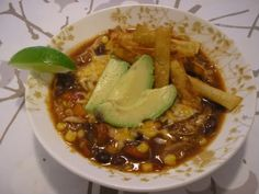 Diane's Chicken Tortilla Soup. Crockpot friendly. Need I say more?
