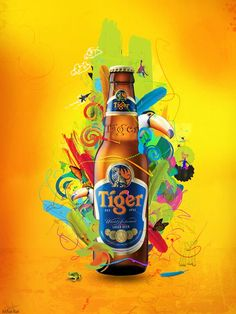 Creative Advertisement Examples For Design Inspiration Advertisement Examples, Beer Advertisement, Advertising Poster, Advertising Campaign, Tiger Beer, Beer Humor, Poster Layout, Creative Posters, Creative Advertising