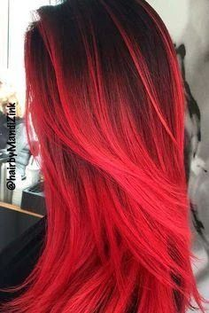 dark red hair color cherry ombre hair red pompadour wig black and red ombre hair orange ginger hair red hair dye for black hair - Hair Color Ideas Dye Black Hair Red, Dyed Red Hair, Black Ombre, Brown Hair, Cool Hair Dyed, Red Hair Ends, Red Hair Red Dress, Red Purple Hair, Ombre Green