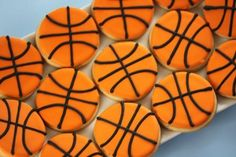Basketball Cookies...website includes great Sugar Cookie recipe and Icing directions