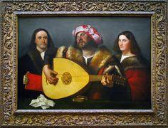 Cariani (Giovanni Busi) Venetian School of painting - The Concert, NG Washington DC. c. 1518-1520.