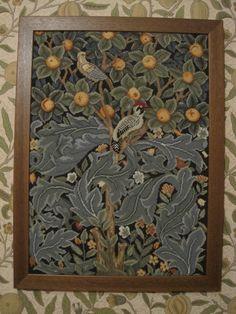 William Morris Woodpecker framed at last.