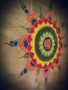 Easy rangoli to admire on ! :-*