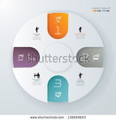 Abstract 3D Paper Infographics. - stock vector