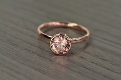 Blaze Solitaire zircon dusty rose 2.5ct Engagement by EdwardOwl