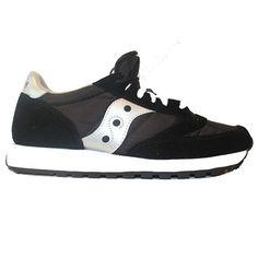 Saucony Mens Jazz Originals - Black/Silver Suede/Mesh Running Sneaker