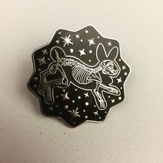 #Repost @jenniferlynnillustration  Starry Night Rabbit Skeleton pin is the best way to celebrate your beloved pet  link to profile in bio ! #illustration #pinstagram #enamelpin #pin #rabbitsofinstagram #rabbit #bunny #macabre #macabrejewelry #pinsforsale #skeleton #skull #animalskull #lapelpin #hardenamel    (Posted by https://bbllowwnn.com/) Tap the photo for purchase info.  Follow @bbllowwnn on Instagram for great pins patches and more!