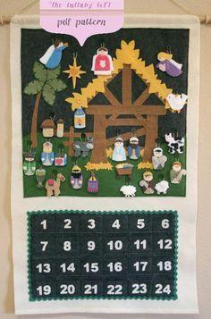 Christmas Nativity Advent Calendar | Craftsy