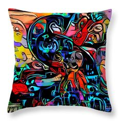 Rise From The Ashes, Bright Art, Abstract Drawings, Pillow Sale, Tag Art, Basic Colors, Poplin Fabric, Color Show, Pillow Inserts
