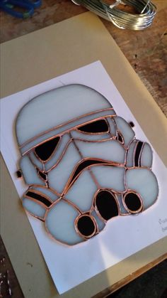 Stormtrooper, stained glass. By RannDago.