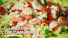 Linguini com camarão #receitadomaumau