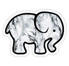 """""""Ivory Ella Marble Elephant"""" Stickers by Macbook Stickers, Phone Stickers, Cool Stickers, Printable Stickers, Preppy Stickers, Red Bubble Stickers, Water Bottle With Stickers, Ivory Ella Stickers, Image Tumblr"""