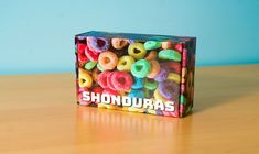 Fruit Loops on a box? It can be done with BoxUp! Customer Stories, Cube, Ink, Canning, Fruit, Toys, Activity Toys, Home Canning, India Ink