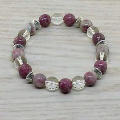 ~ Bracelets by Karen ~ Lepidolite, Quartz and Kunzite with Silver Spacers