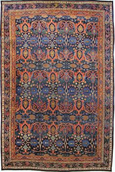Persian Bidjar rug, 12'3 x 19'0, Circa 1880, Landry and Arcari gallery
