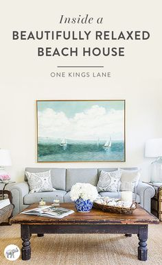 Take a tour of interior designer Matthew Caughy's beautifully relaxed beach home here!