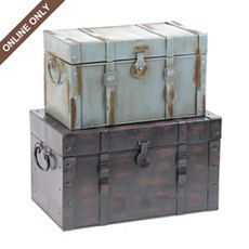 Love these vintage looking trunks from Kirklands