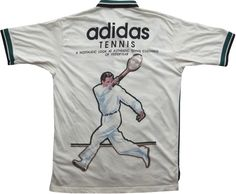 Image of Vintage Adidas Tennis T Shirt Polo Shirt Size Medium