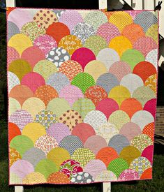 clamshell quilt - i know i've pinned this before but it's so pretty I want it more than once!